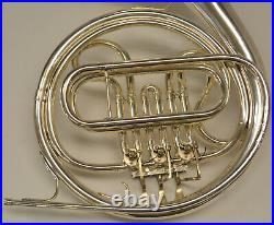 Used Cleveland 618 F Single French Horn With Case And Mouthpiece, Silver Finish