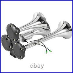 VEVOR Loud 170 DB Train Air Horn Kit3Trumpet with Dual 200 PSI Air Compressors