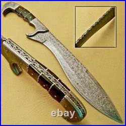 VIKING SWORD Gift Norse Mythology Damascus Steel Custom Handmade with Sheath