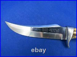 VINTAGE Puma Skinner Stag Horn German Made Hunting Knife with Leather Sheath NOS