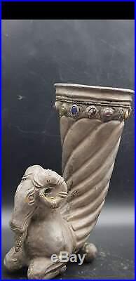 Very Rare Silver Rhyton With Horned Ram Head Achaemenid Period c530/330BC Persia