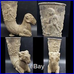Very Rare Silver Rhyton c530/330 BC With Horned Ram Achaemenid Period Near East