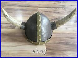 Viking Warrior Helmet with Real Horns Medieval Armor & Vintage Masonic Hat Lot