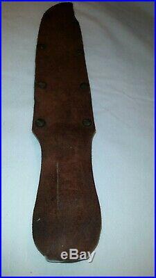 Vintage G. C. Co. Solingen, Germany hunting knife fixed blade with sheath 15, 490