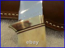 Vintage Gerber Portland Oregon C325 Fixed Blade Hunter with India Stag Handles