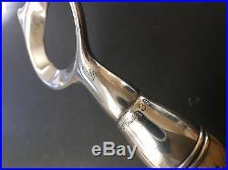 Vintage John Hasselbring Sterling Silver Bottle Opener With Antler Horn Handle