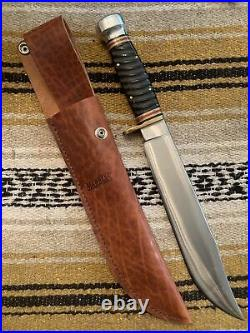 Vintage Marbles Gladstone Trailmaker Bowie Survival Hunting Knife with Sheath