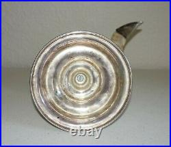 Vintage Ram's Horn with Silver Plate Base/Tip Candle Holder #202