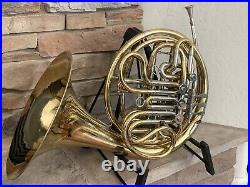 Vintage Reynolds Brass Double French Horn Contempora With Nickel Silver Trim