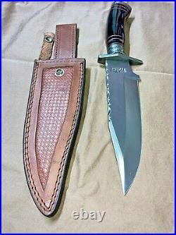 William Son Beautiful Fixed Blade Knife with Original Leather Sheath 12 3/4
