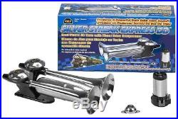 Wolo (836) Silver Streak Dd Roof Mount Dual Trumpet Air Horn With Direct Drive C