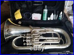Yamaha Euphonium YEP321S 4 Valve Horn Baritone With Hard Case & Care Kit