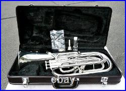Yamaha YBH-621S Baritone Horn with Case Excellent Condition Shop Serviced Wrty
