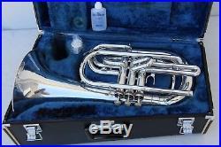 Yamaha YBH301M Horn YBH 301 SILVER Marching Baritone With Case Mouthpiece