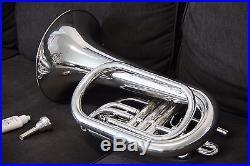 Yamaha YBH301M Horn YBH 301 SILVER Marching Baritone With Case Mouthpiece L@@K