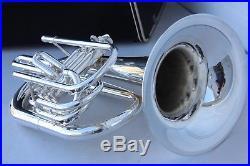 Yamaha YBH301M Horn YBH301 SILVER Marching Baritone with Case Mouthpiece MINT