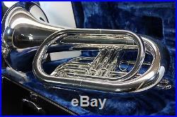 Yamaha YBH301M Silver MARCHING Baritone Horn YBH 301 with Hard Case Mouthpiece