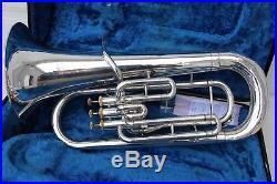Yamaha YEP201 Euphonium Horn YEP 201 SILVER Baritone with Hard Case Fast Ship