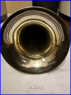 Yamaha YEP201M Euphonium Horn SILVER Baritone with Hard Case