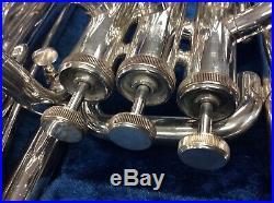 Yamaha YEP201M Euphonium Horn YEP 201 SILVER Baritone with Hard Case
