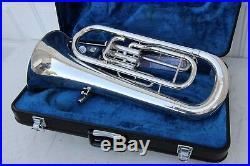 Yamaha YEP201M Euphonium Horn YEP 201 SILVER Baritone with Hard Case VERY NICE