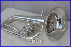 Yamaha YEP201S Euphonium Horn YEP 201 SILVER Baritone with Hard Case NICE