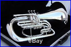 Yamaha YEP202 MARCHING Euphonium Horn YEP 202 SILVER Comes With Case, EXCELLENT
