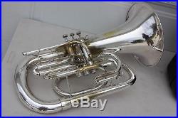 Yamaha YEP202 MARCHING Euphonium Horn YEP 202 SILVER Comes With Hard Case LQQK