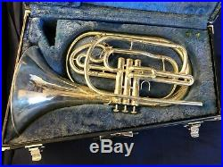 Yamaha YHR-302MS Bb Marching French Horn in Silver Plate with Case #201060