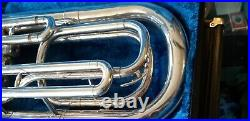 Yamaha Ybh 301s Silver Marching Horn With Case